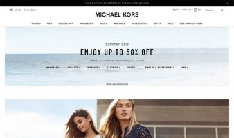 eCommerce website: Michael Kors