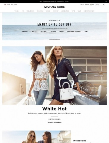 eCommerce website: Michael Kors