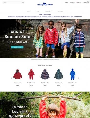 eCommerce website: Muddy Puddles