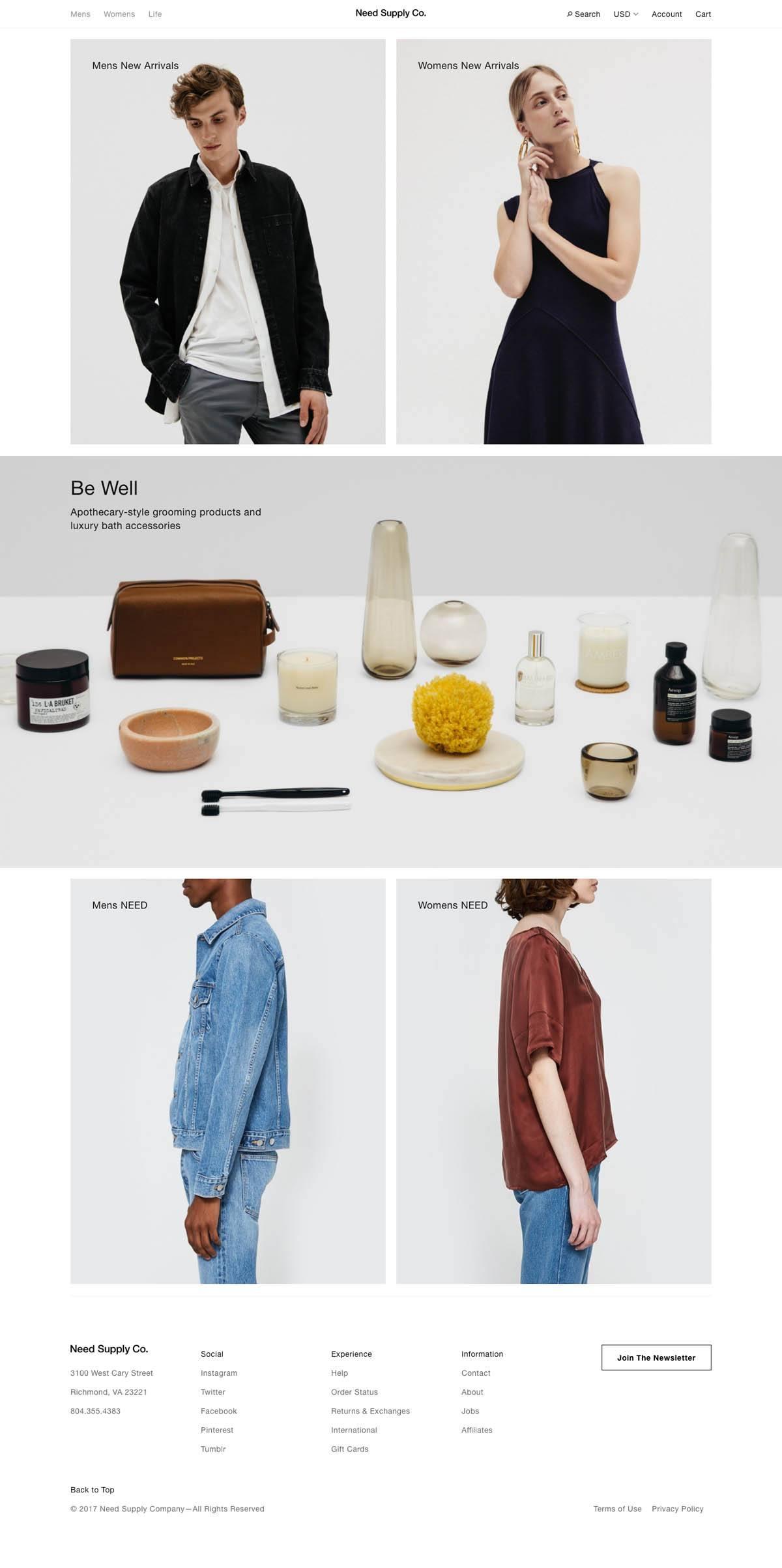eCommerce website: Need Supply Co.
