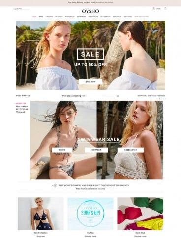 eCommerce website: Oysho