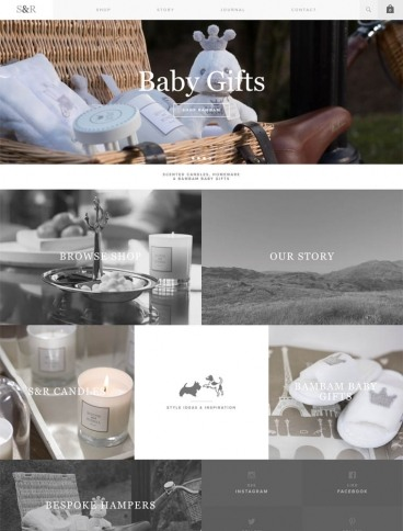 eCommerce website: Scottie and Russell