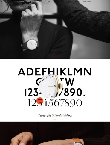 eCommerce website: Sekford Watches