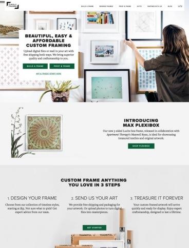 eCommerce website: Simply Framed