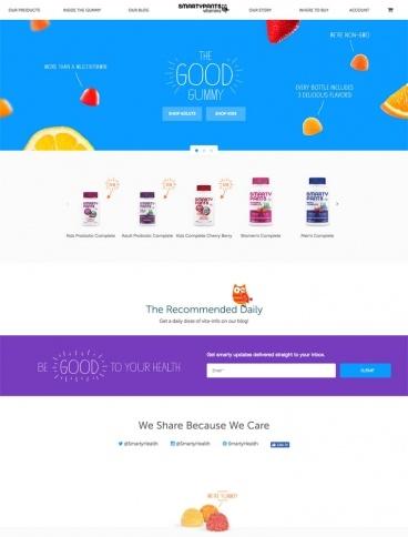 eCommerce website: SmartyPants Vitamins