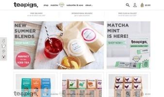 eCommerce website: Teapigs