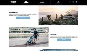 eCommerce website: Thule