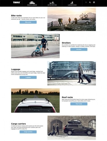 eCommerce website: Thule