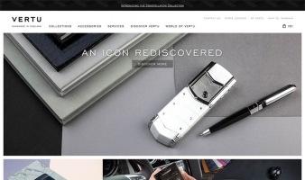 eCommerce website: Vertu