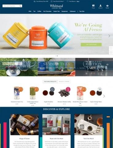 eCommerce website: Whittard of Chelsea