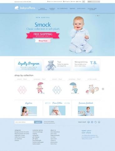 eCommerce website: babycottons