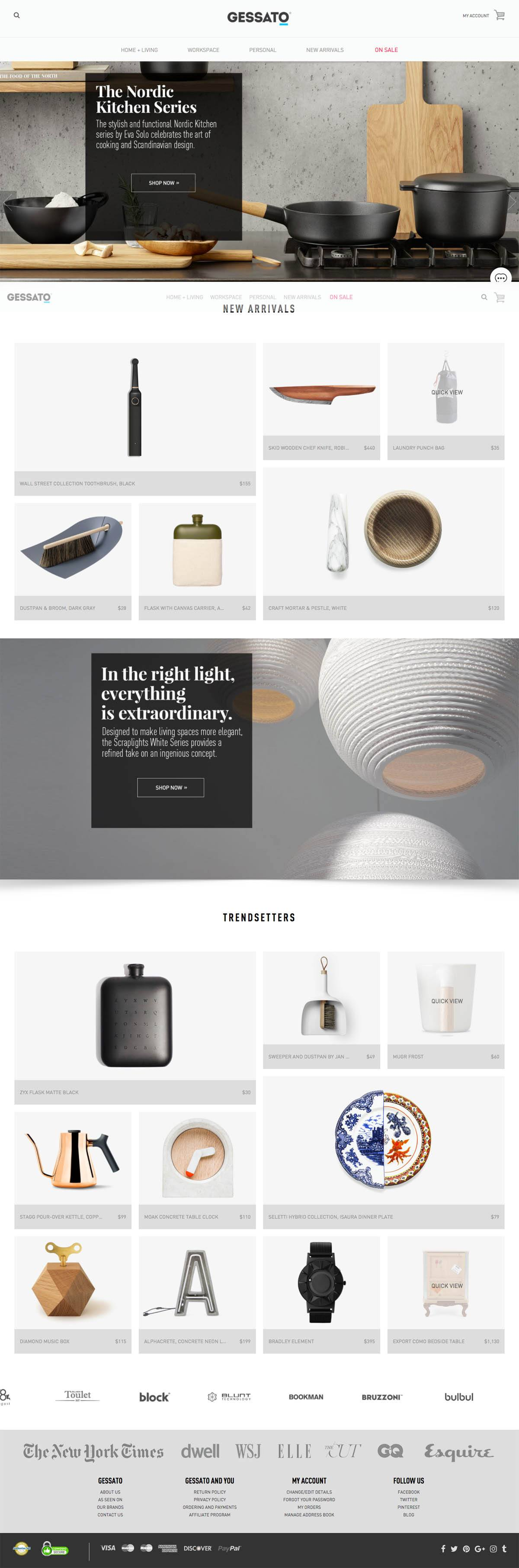 eCommerce website: Gessato