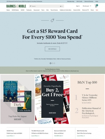 eCommerce website: Barnes & Noble