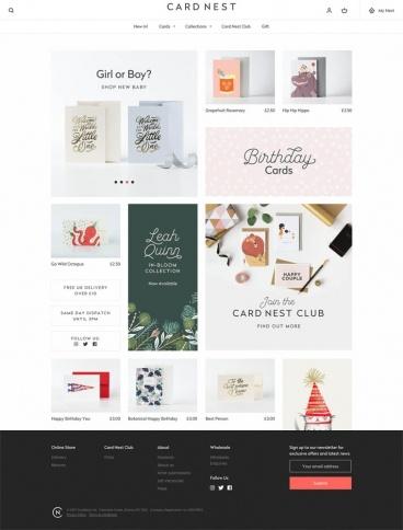 eCommerce website: Card Nest