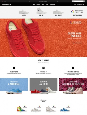 eCommerce website: Converse