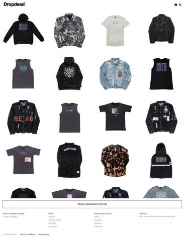 eCommerce website: Drop Dead