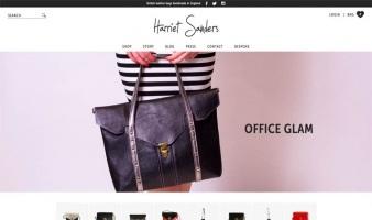 eCommerce website: Harriet Sanders