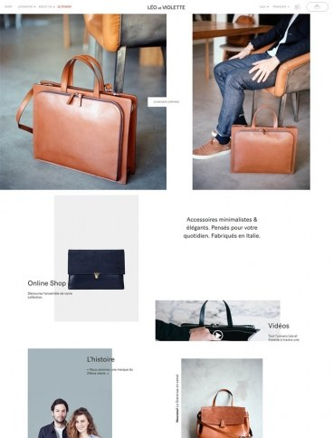 eCommerce website: Leo et Violette