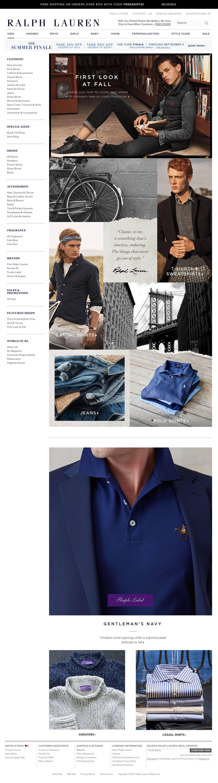 eCommerce website: Ralph Lauren