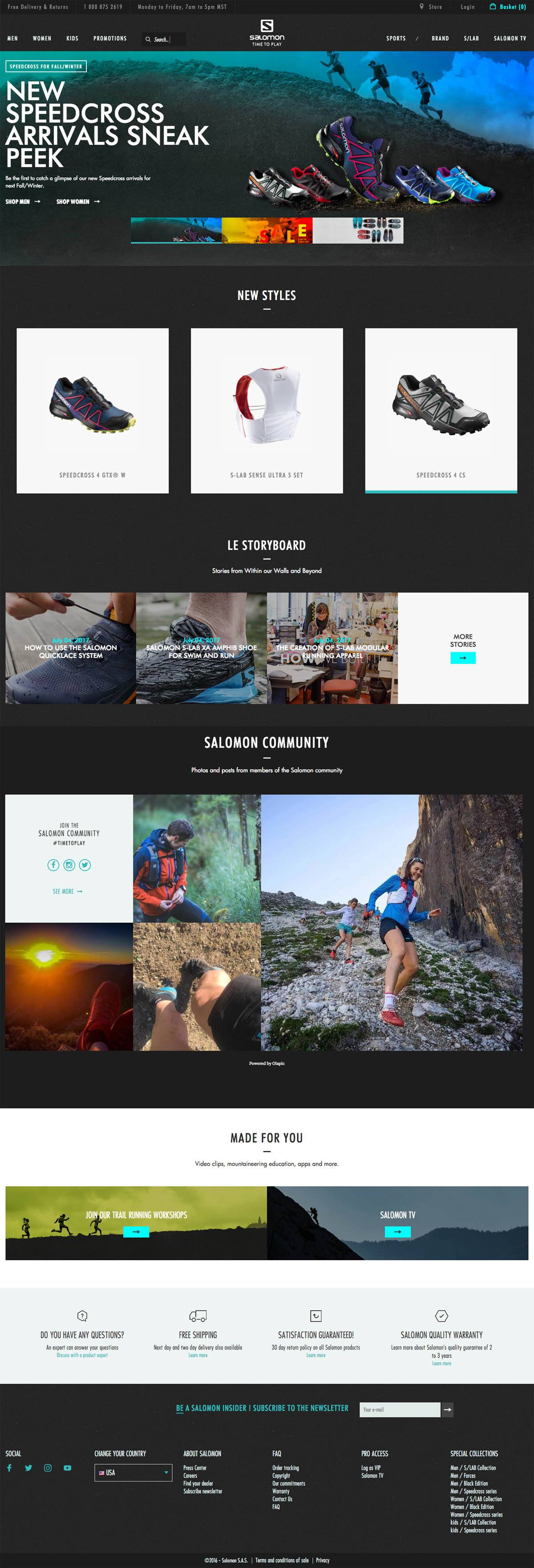 eCommerce website: Salomon