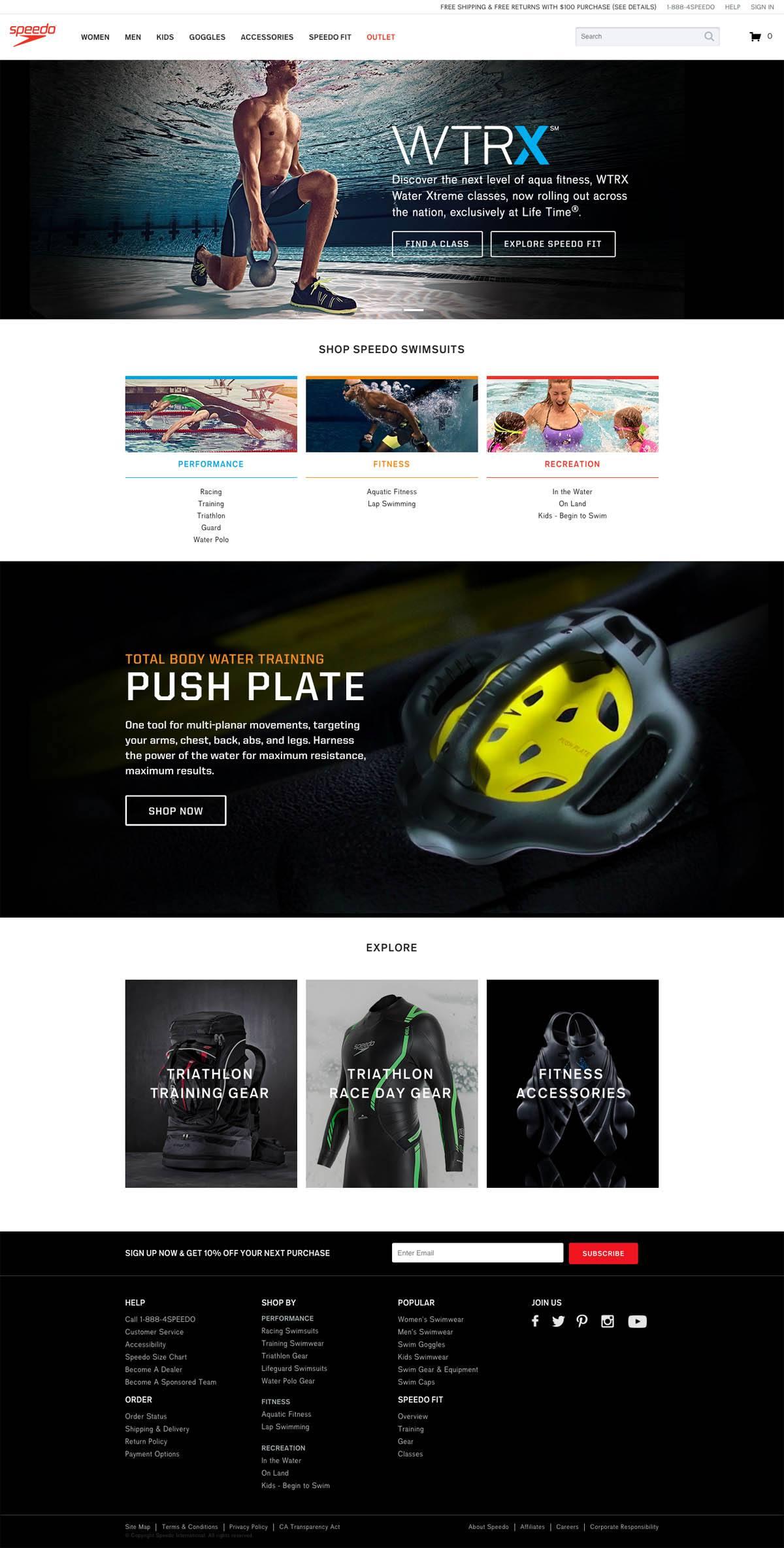 eCommerce website: Speedo