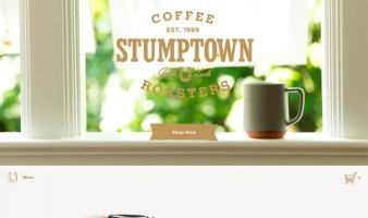 eCommerce website: Stumptown Coffee Roasters
