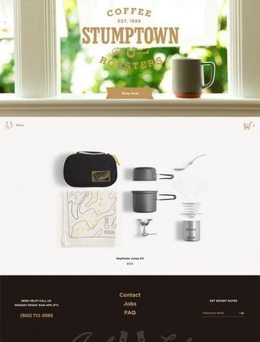 eCommerce website: Stumptown Coffee Roasters