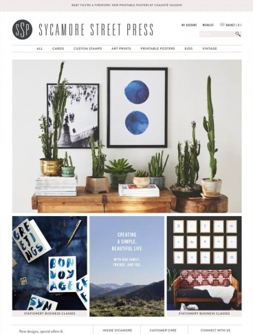 eCommerce website: Sycamore Street Press