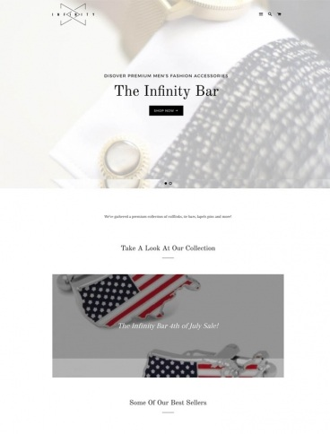 eCommerce website: The Infinity Bar
