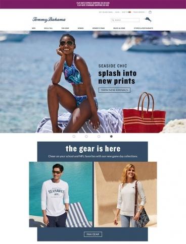 eCommerce website: Tommy Bahama