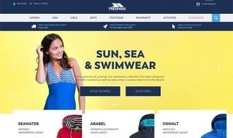 eCommerce website: Trespass