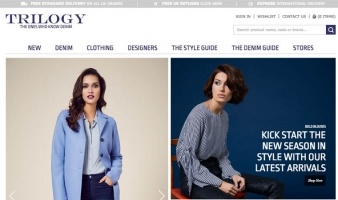eCommerce website: Trilogy Stores