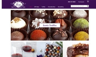 eCommerce website: Vosges Chocolate