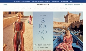 eCommerce website: Anthropologie