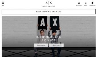 eCommerce website: Armani Exchange