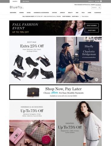eCommerce website: Bluefly