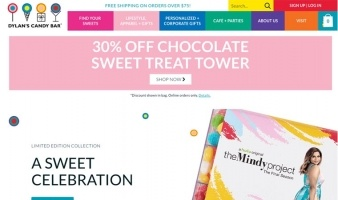 eCommerce website: Dylan's Candy Bar