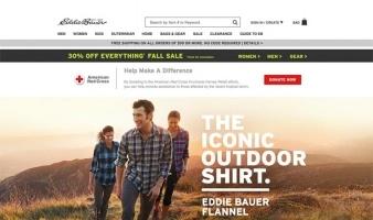 eCommerce website: Eddie Bauer
