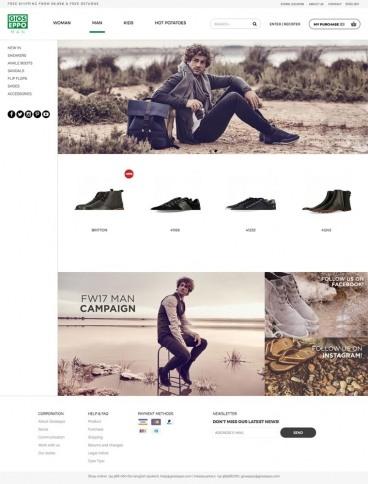 eCommerce website: Gioseppo