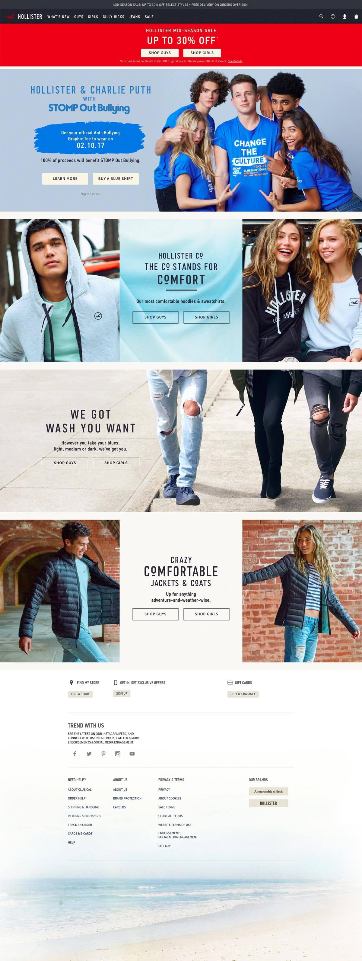 eCommerce website: Hollister