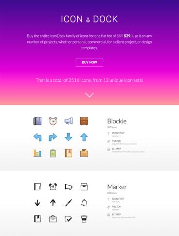 eCommerce website: IconDock