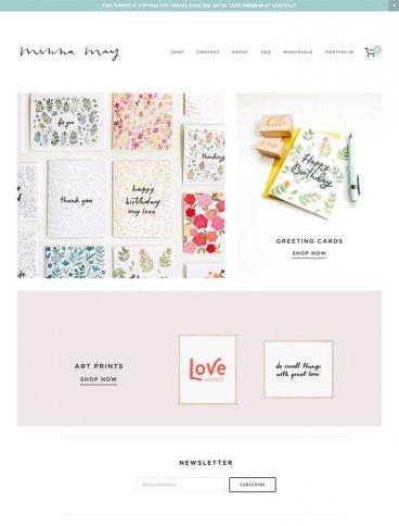 eCommerce website: Minna May Design