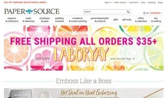 eCommerce website: Paper Source