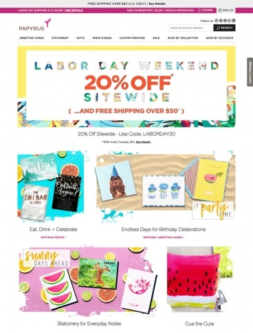 eCommerce website: Papyrus