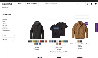 eCommerce website: Patagonia