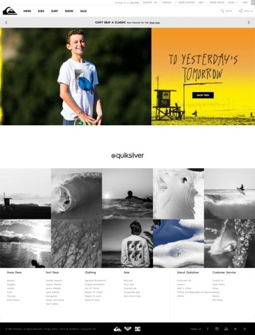 eCommerce website: Quiksilver