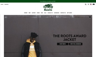 eCommerce website: Roots