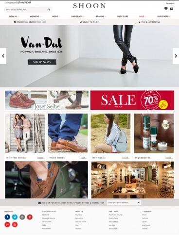 eCommerce website: Schoon