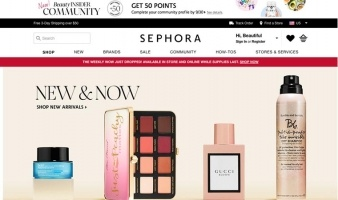 eCommerce website: Sephora