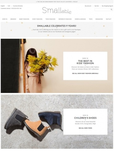 eCommerce website: Smallable